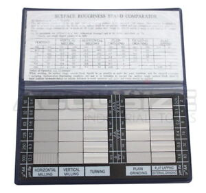 Surface-Roughness-Comparator-Inch-Metric-Combo-Brand-New-EG02-0226