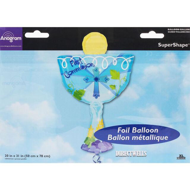 Anagram International 1st Communion Blue Chalice Balloon Multicolor 31