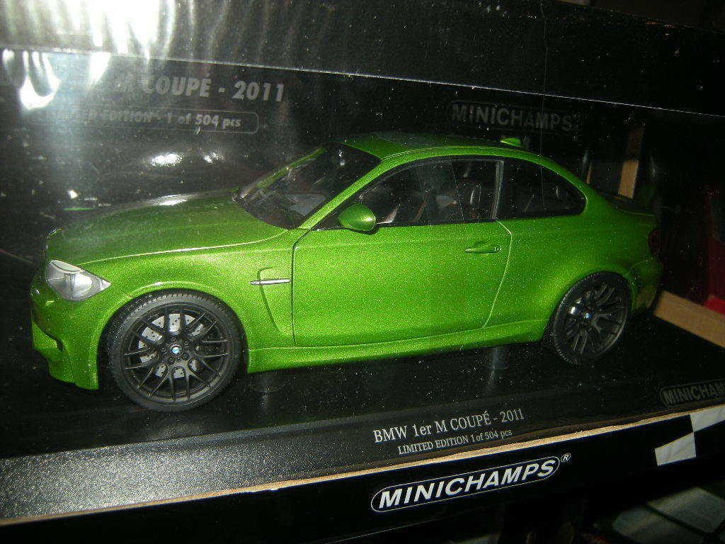 Bmw 1er m coupé 2011 18 minichamps gr ü n   grüne limited edition 1 504 pcs ovp