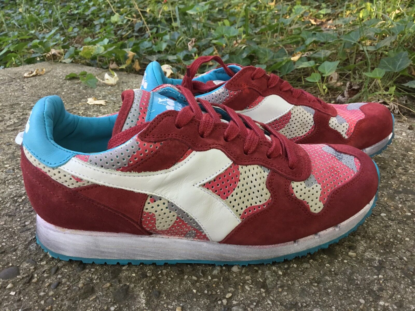 Diadora Heritage Trident Trident Trident Camo Red White C5812 men's shoes sneakers size 12 ac698d