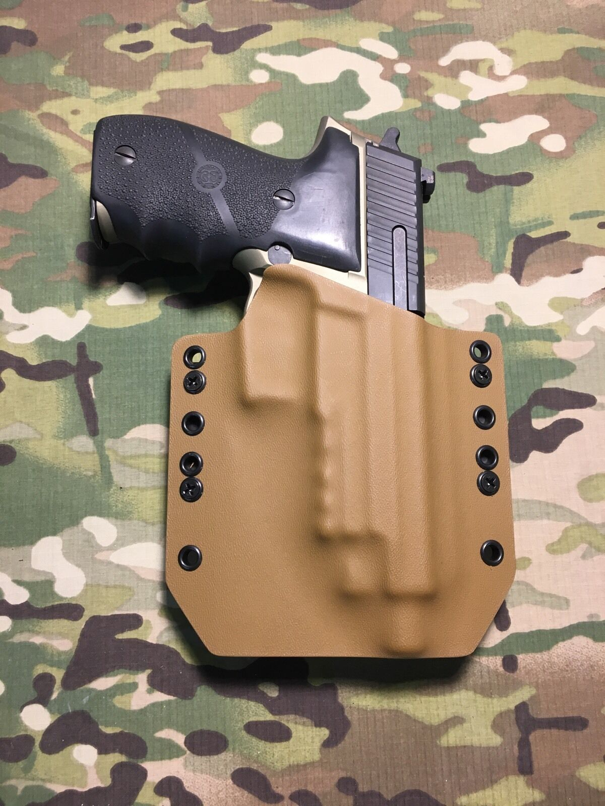 Coyote Coyote Coyote Tan Kydex SIG P226R Threaded Barrel Holster 39a9d8