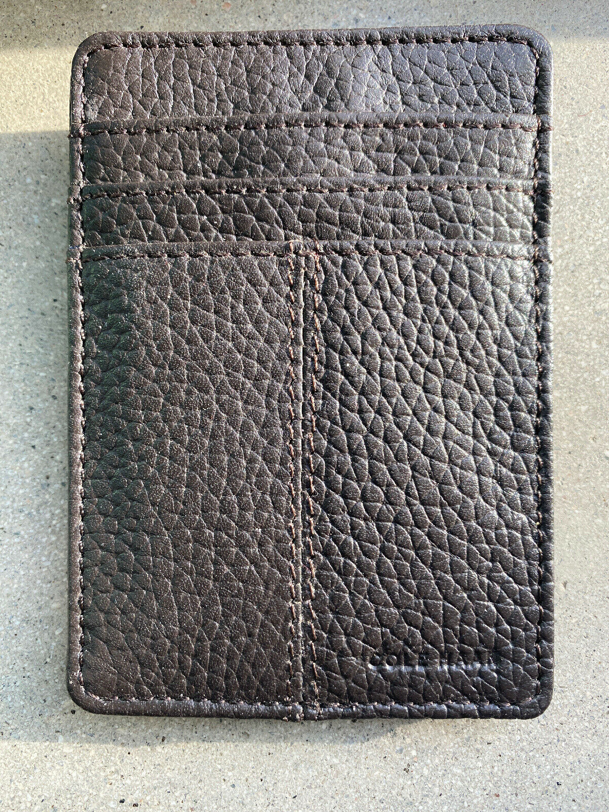 COLE HAAN Mens Brown Textured LEATHER Front Pocket WALLET w/ Clip MSRP
