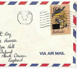 Complexé Barbade Cover 1981 Oiseaux 60 C Surtaxe Commercial Air Mail {samwells} Av290-0 Fr-fr Afficher Le Titre D'origine Qualité SupéRieure (En)
