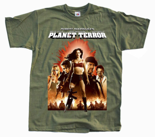 PLANET TERROR Ver poster T SHIRT all sizes S to 5XL 5 Robert Rodriguez