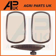 "Pair of Universal Wing Mirror Head & Glass 10"" x 6"" Tractor Digger Lorry Truck"