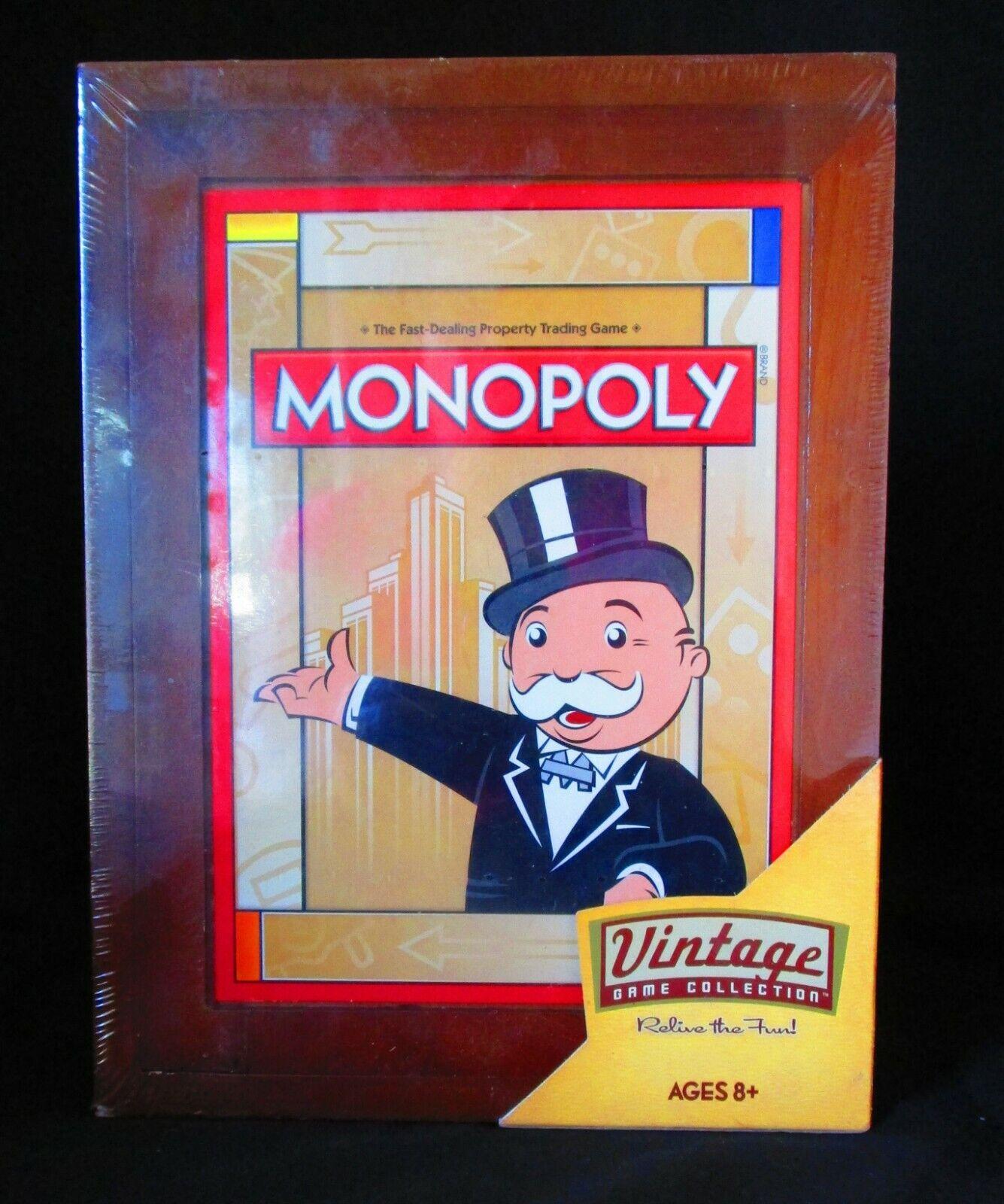 Monopoly Vintage Game Collection (2009) boîte en bois  Neuf en boîte scellée