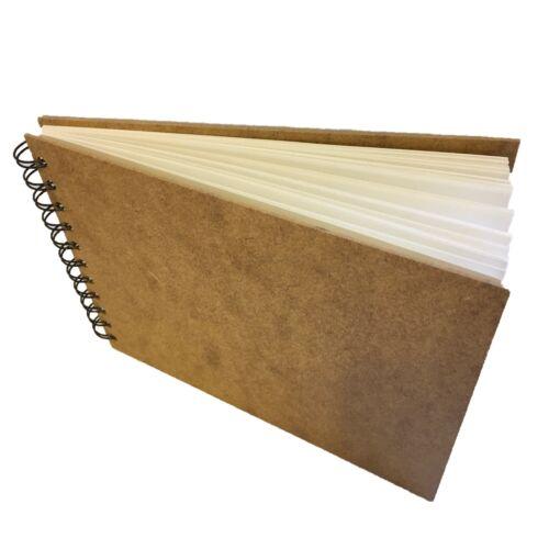Hard Back Spiral SketchBook A5 Landsacpe  recycled cartridge paper pad 170gsm