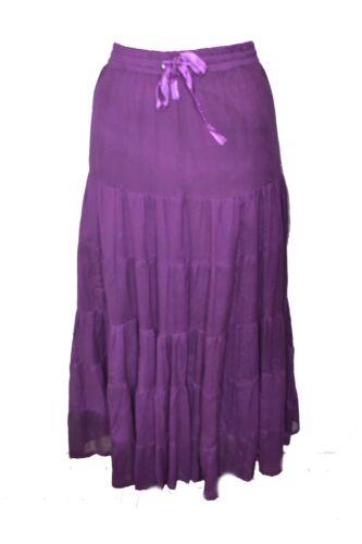 Elasticated Waistband Size 16 Jordash Skirt Long Terry Voil Purple