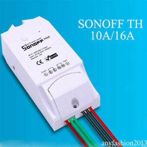 Details about Sonoff TH10A Temperature&Humidity Monitoring WiFi Smart  Switch Control th9