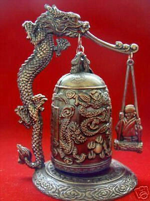 HOT !!! SALE Excellent chinese Tibet Brass Dragon buddha Bell Free Shipping