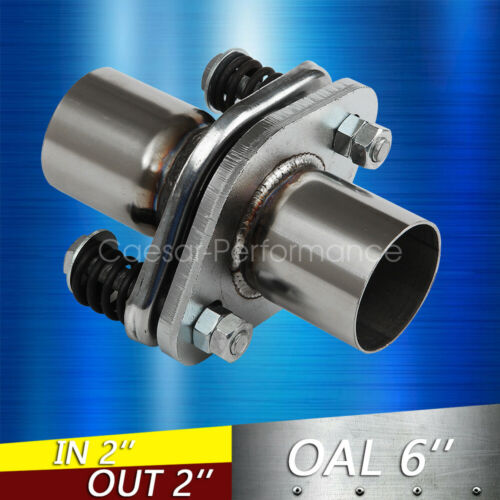"""2/"""" ID Stainless Exhaust Spherical Joint Spring Bolt Flange Pipe Repair"""