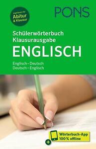 PONS Schülerwörterbuch Klausurausgabe Englisch (Mixed media product)