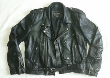 Vintage Wilsons Classic Black Leather Motorcycle Jacket XL 48 Biker Punk Rock