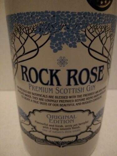 70cl Empty CeramicRock Rose Gin Bottle With Original Top