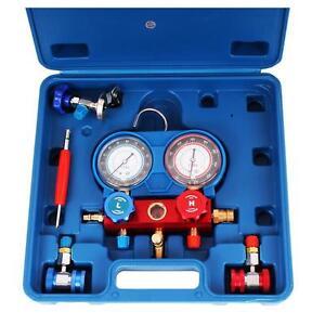 KFZ Klima Servicegerät Klimaanlagen Prüfgerät Druckuhr-Armat<wbr/>ur mit Koffer
