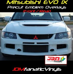 06-07 Lancer EVOIX EVO Emblem F&R Overlays Decal Wrap J