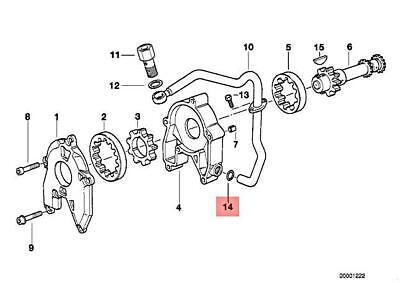 Original BMW 24201217321 O-Ring 128X3 1er 3er 5er 6er 7er 8er X1 X3 X5 X6 Z4