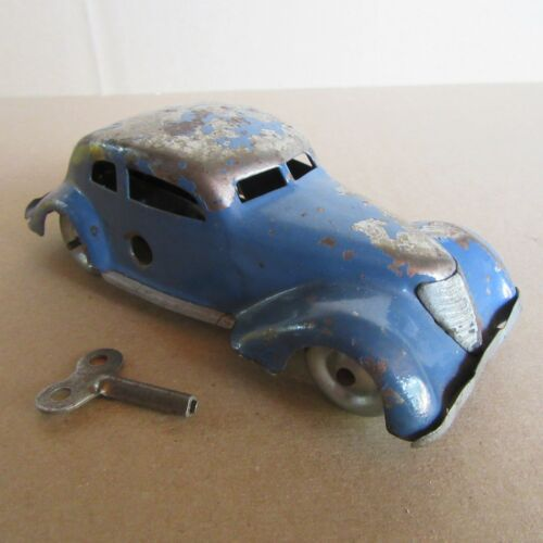 757E Vintage Tippco TCO Limousine Toy Sheet metal Blue