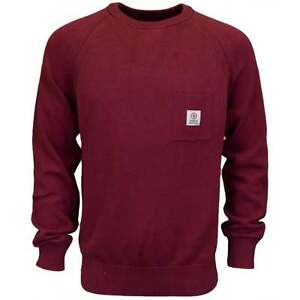 Franklin-amp-marshall-CA043-col-rond-coton-amaranto-rouge-knitwear