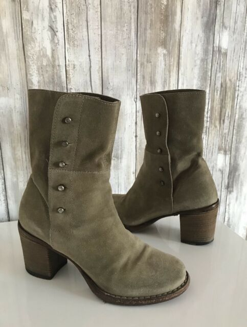 3e3ee8011b3 Details about FIORENTINI + BAKER Beige Suede Chunky Block Heel Ankle Bootie  Boot 35.5 5.5 $495