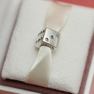 772ee5fa7 Image is loading AUTHENTIC-PANDORA-LUCKY-DICE-RETIRED-791269CZ-Las-Vegas-
