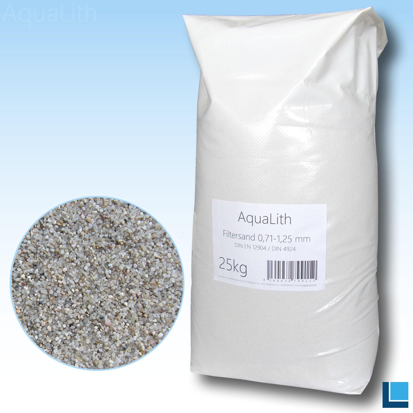0,4-0,8 mm Körnung 25 kg Sack Filtersand Quarzsand