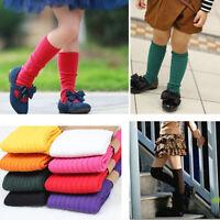 Boy/Girl Kids Knee High Socks Stocking Cotton Baby Toddler Leg Warm Leggings HOT
