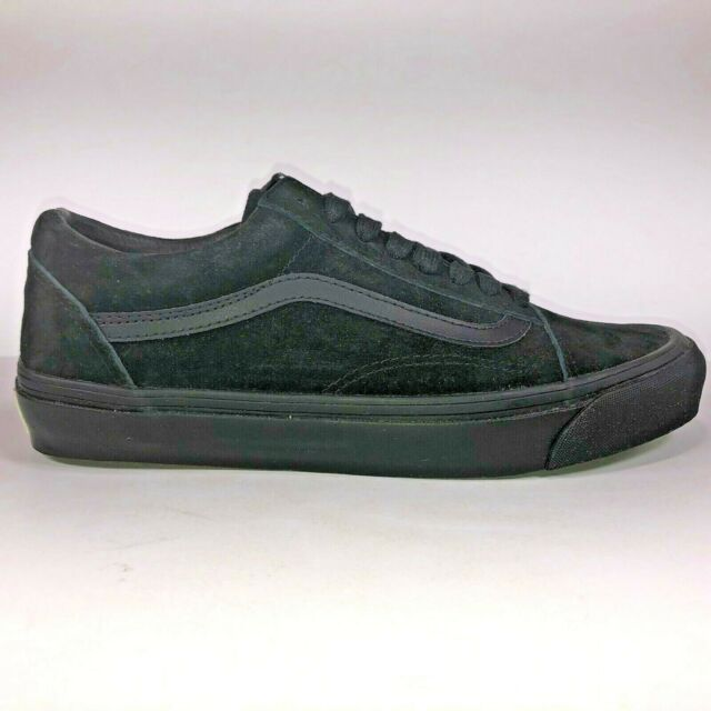 vans old skool all black leather