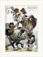 Titelseite der Nummer 5 von 1910 Heinrich Kley Pferd Gitarre Trommel Jugend 3732