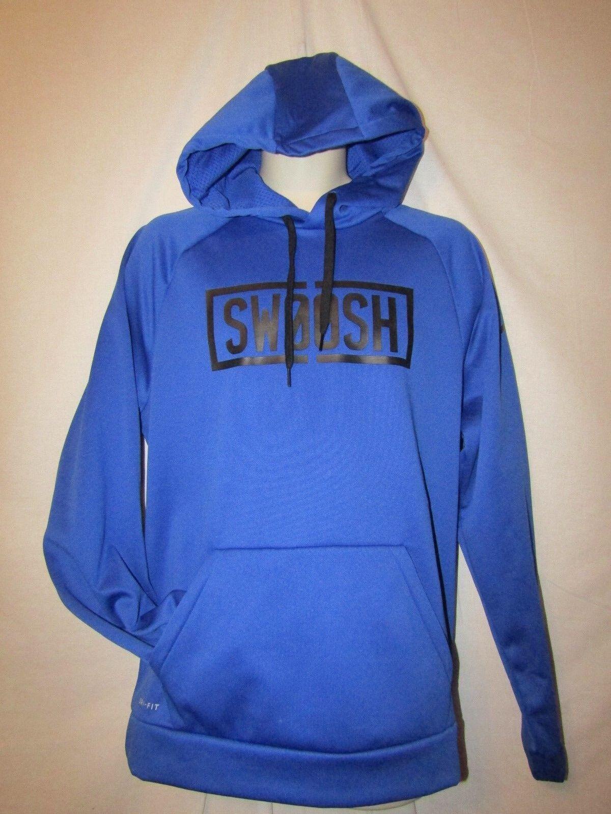 Mens nike swish therma dri fit hoodie L nwt bluee