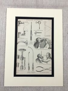 1880-Antique-Print-Victorian-Surgical-Apparatus-Surgery-Tools-Forceps-Tube