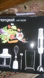 Homgeek 5-in-1 Hand Blender Set, 1000W 6-Speed Stick Blender with Turbo