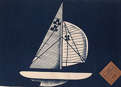 Nautical Sailboat Oceanside Placemats Set of 4 Blue White