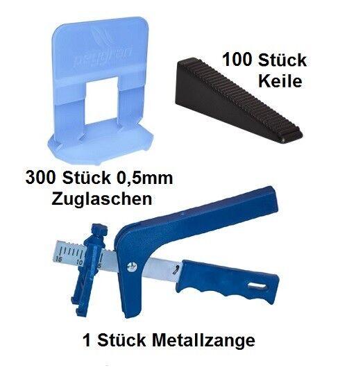 Nivelliersystem 0,5 mm 300 Laschen 100 Keile + Metallzange Peygran Fliesen | Neuheit  | Reparieren  | München