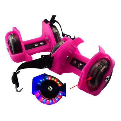 Adjustable Kid Wheel Heel Roller Pulley Light Up Skates Flash Blade Shoe GA