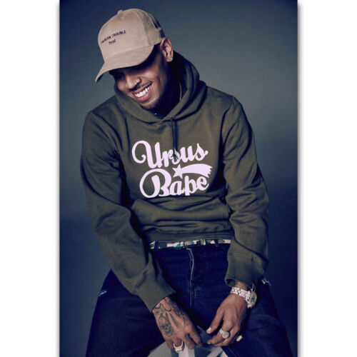 Art Poster Chris Brown Royalty X Black Pyramid Rap Light Canvas Home Decor D374