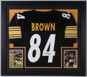 Image is loading Antonio-Brown-Signed-Steelers-31x35-Custom-Framed-Jersey- ec1c1e55e