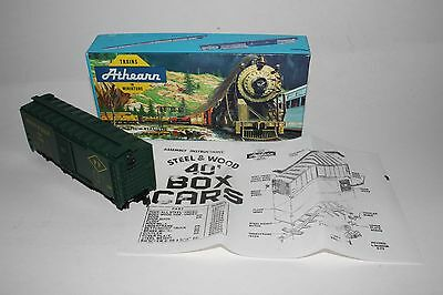 ATHEARN 40/' Steel /& Wood Box Car Brown Lycoming Motors AACA Ho Unassembled H2