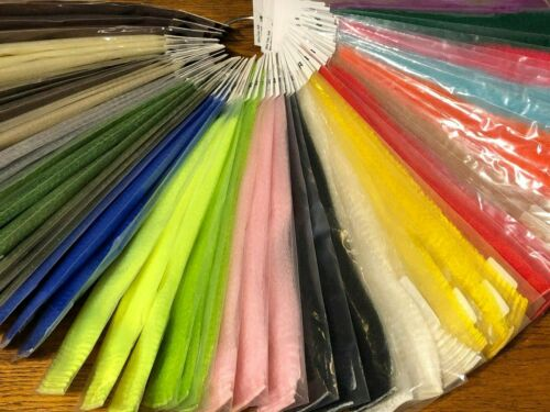 Strung Fuzzy Fiber Fly Tying 21 Colors Hedron