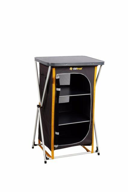 NEW OZtrail Deluxe Folding 3 Shelf camping Cupboard - FSU-DC3