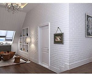 Peel And Stick Non Woven 3d Fabric Brick Wallpaper Living Room