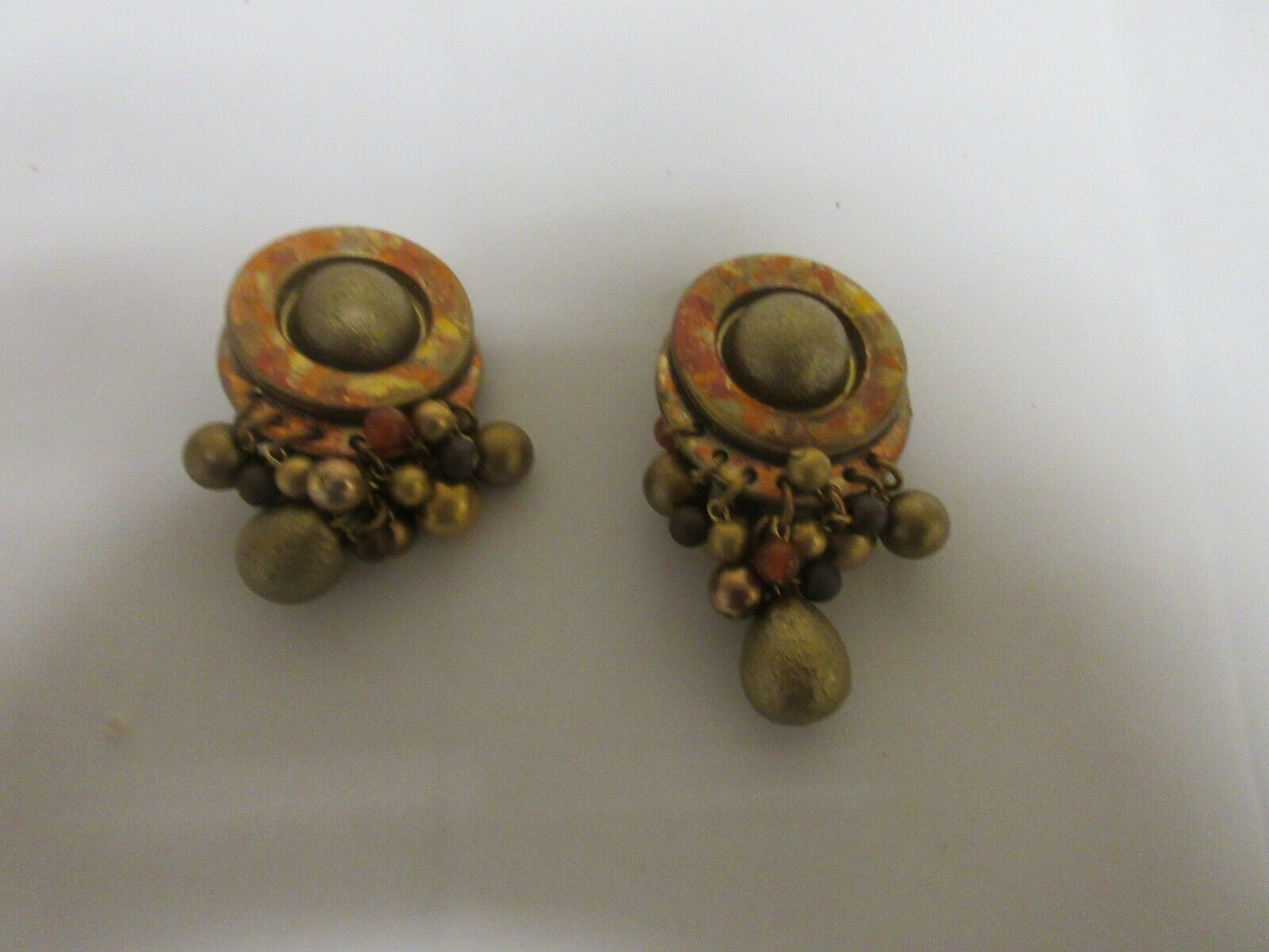 Costume Jewelry , Vintage Ikarami Rust Metallic Dangle