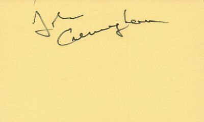 Movies Dedicated John Cunningham Actor 1976 The Ritz Tv Movie Autographed Signed Index Card To Suit The PeopleS Convenience