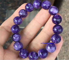 Genuine Natural Purple Charoite Crystal Beads Charming Bracelet AAAA 11mm