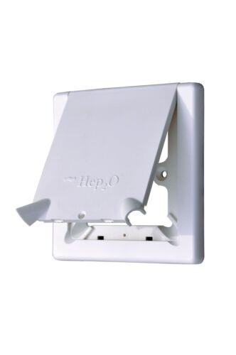 Hep2O Radiateur Outlet Cover avec Rabat-Pack de 10
