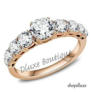 WOMEN-039-S-ROUND-CUT-CZ-ROSE-GOLD-PLATED-STAINLESS-STEEL-ENGAGEMENT-RING-SIZE-5-10