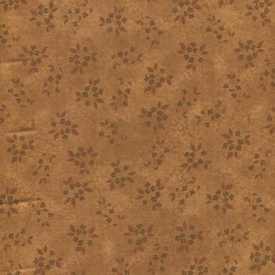 CRAZY DAISIES SMALL FLORAL TONAL BROWN Cotton Fabric BTY Quilting Craft Etc