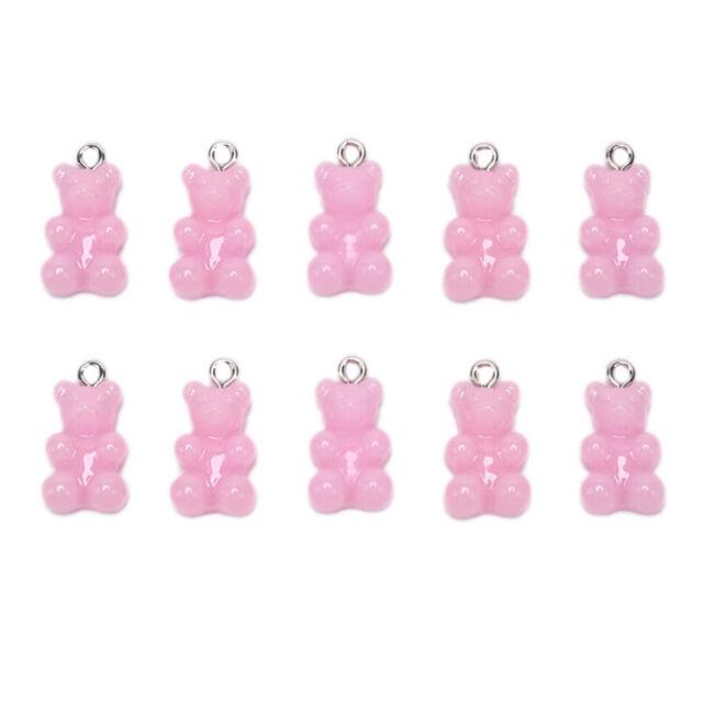10Pcs//Set Gummy Bear Candy Charms Necklace Pendants DIY Earrings Jewelry/_sh