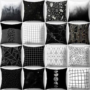 Geometric-Black-amp-White-Throw-Pillow-Case-Waist-Cushion-Cover-Home-Decor-Fashion