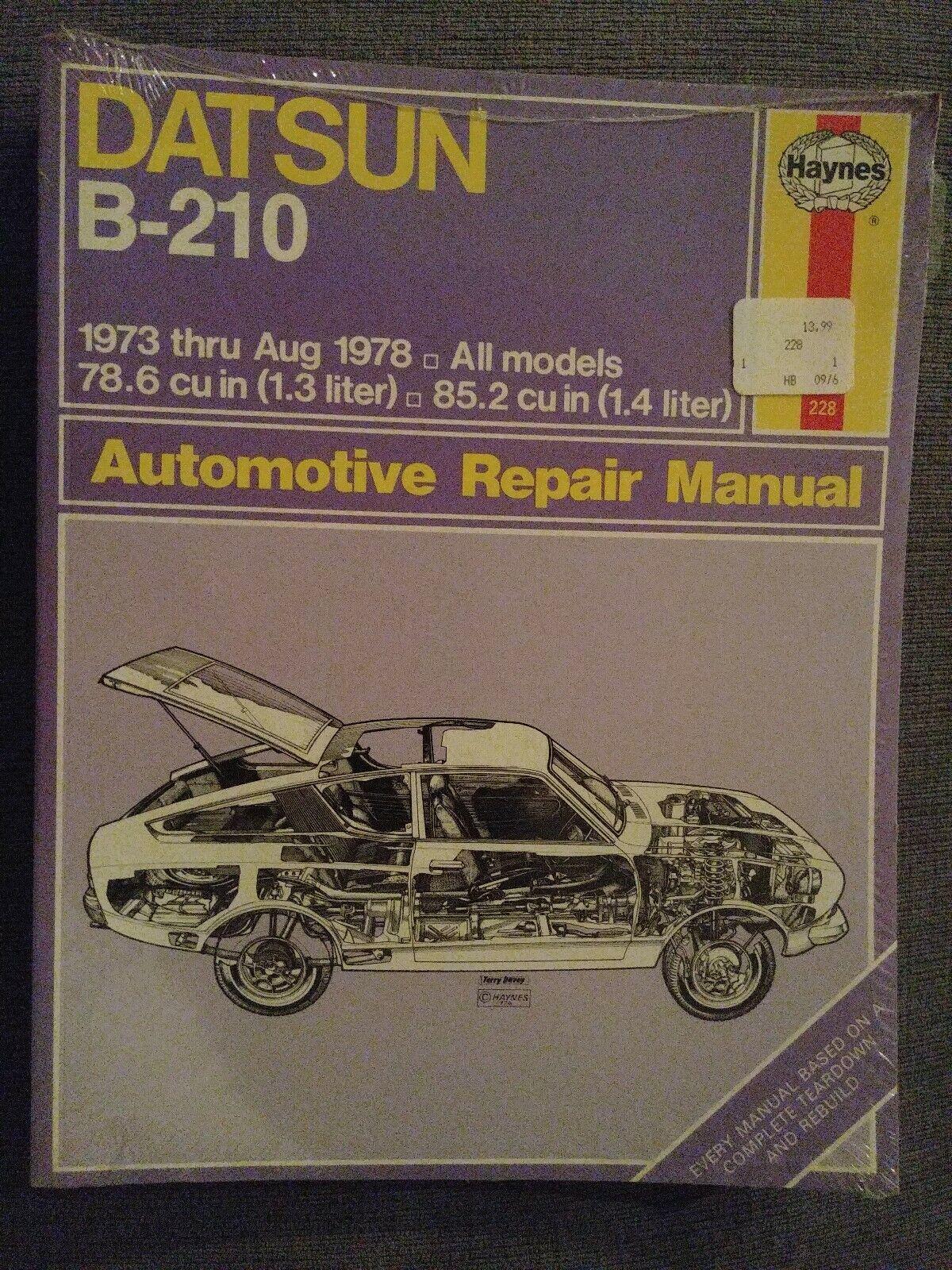 Other Car Manuals SHOP MANUAL B210 SERVICE REPAIR DATSUN BOOK ...